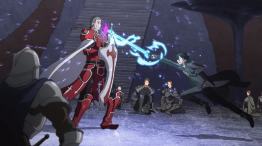 Sword Art Online Kirito fights Heathcliff