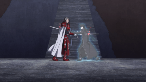 Sword Art Online ghost Kirito kills Heathcliff