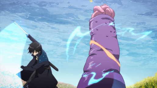 Sword Art Online Kirito kills giant penis monster