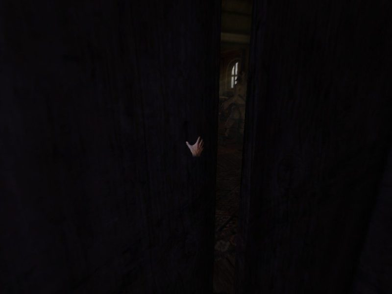 Amnesia: The Dark Descent hiding in closet