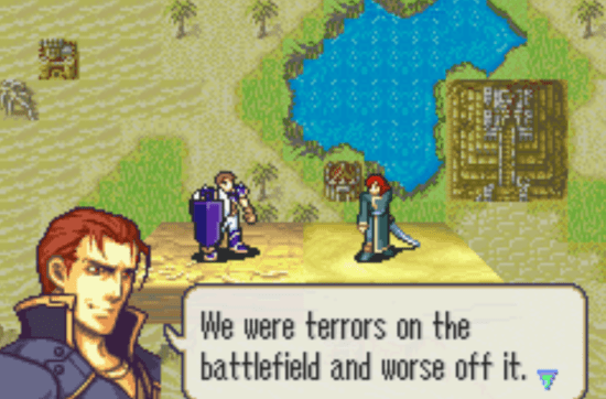 Fire Emblem: The Sacred Stones Caellach and Joshua