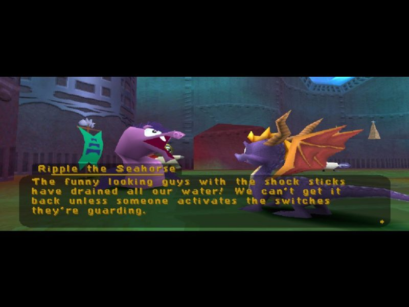 Spyro 2: Ripto's Rage (Gateway to Glimmer) gameplay Aquaria Towers Ripple the Seahorse