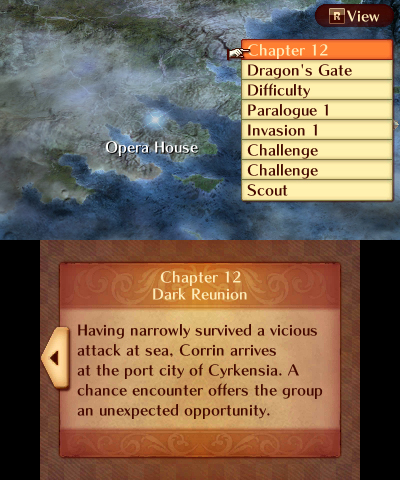 Fire Emblem Fates: Birthright world map