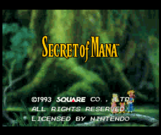 Secret of Mana title screen