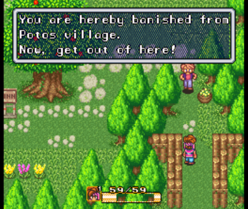 Secret of Mana banishment