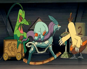 Pokemon: Lucario and the Mystery of Mew Grovyle Phanpy Combusken