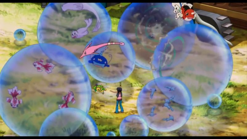 Pokémon Ranger and the Temple of the Sea bubbles