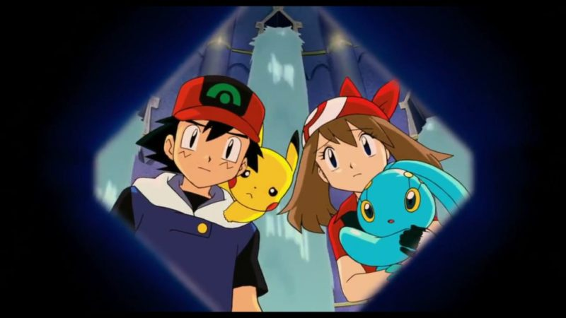 Pokémon Ranger and the Temple of the Sea Ash Ketchum, Pikachu, May, Manaphy