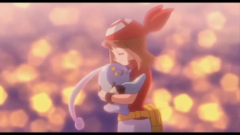 Pokémon Ranger and the Temple of the Sea May and Manaphy ending hug