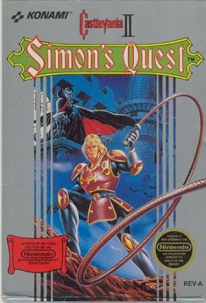 Castlevania II: Simon's Quest NES Box art