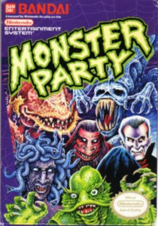 Monster Party NES game cover