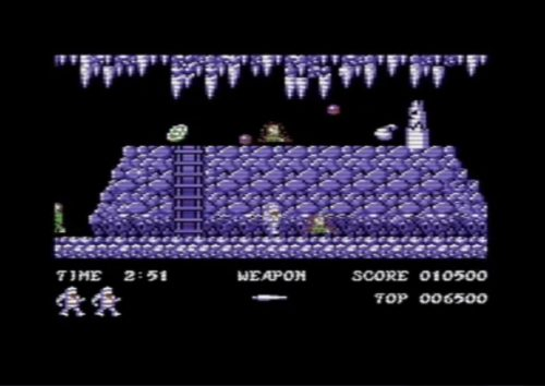 Ghosts 'n Goblins commodore 64 gameplay