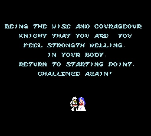Ghosts 'n Goblins NES ending
