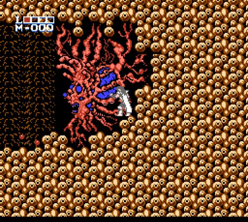 Holy Diver Famicom gameplay second boss