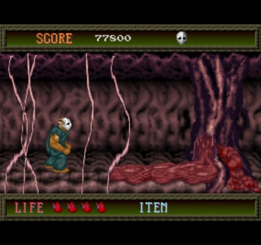Splatterhouse arcade gameplay