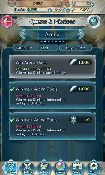 Fire Emblem Heroes Hero Feathers Quests