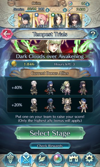 Fire Emblem Heroes Tempest Trials