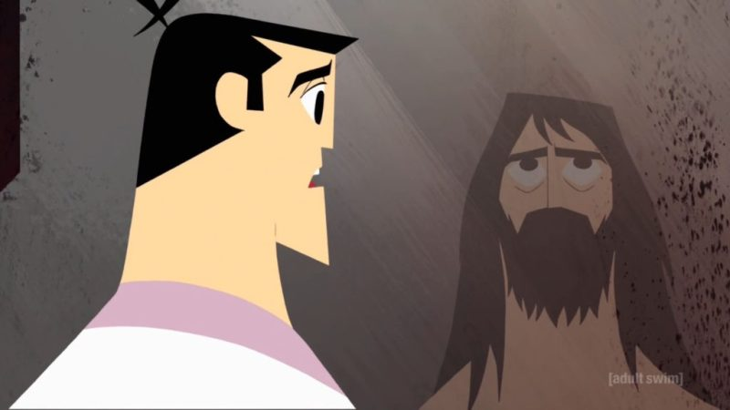Samurai Jack season 5 Jack and old Jack reflection