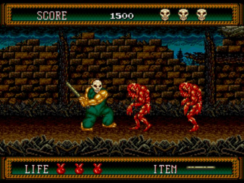 Splatterhouse 2 Sega Genesis gameplay