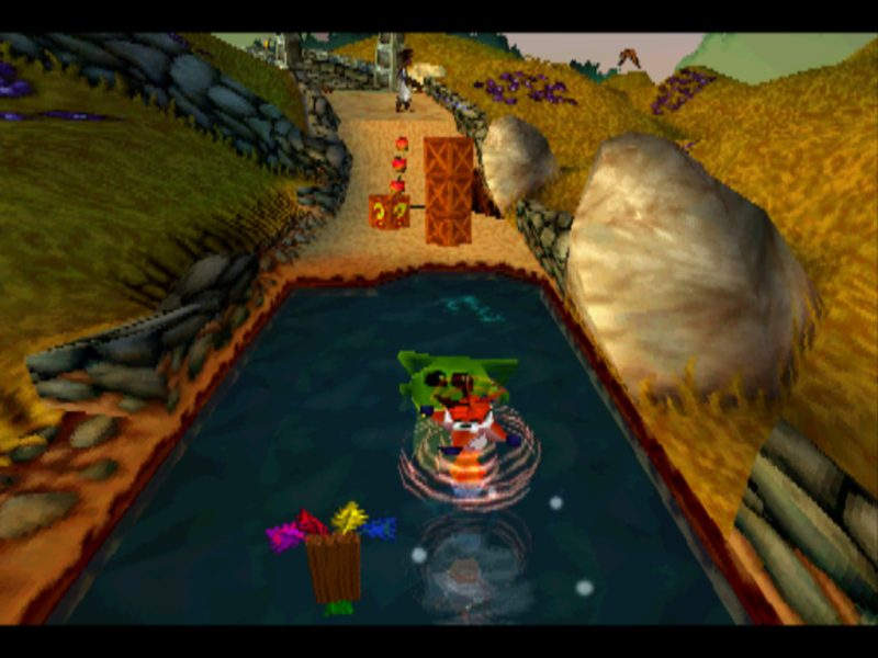 Crash Bandicoot 3: Warped Toad Village gameplay