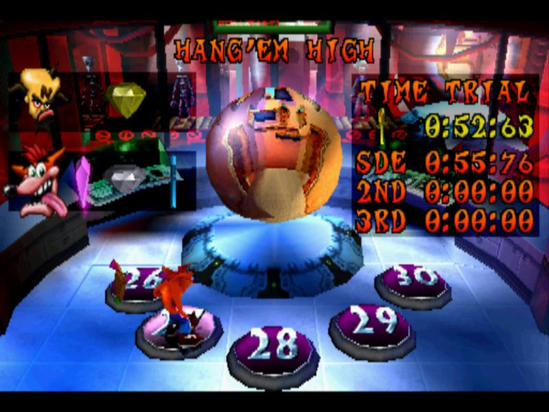 Crash Bandicoot 3: Warped secret room