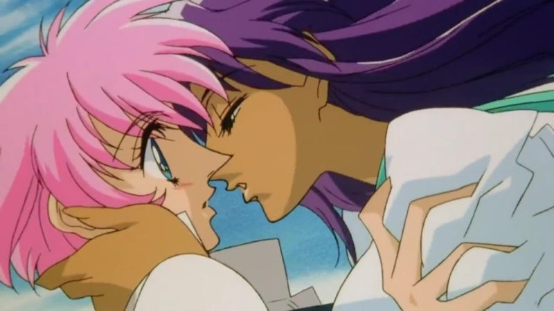 Adolescence of Utena movie Utena Tenjou and Anthy Himemiya kissing
