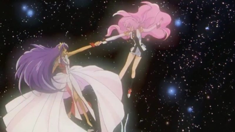 Adolescence of Utena movie Utena Tenjou and Anthy Himemiya dancing