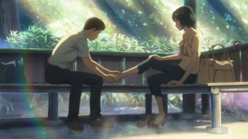 The Garden of Words anime movie Takao Akizuki and Yukari Yukino