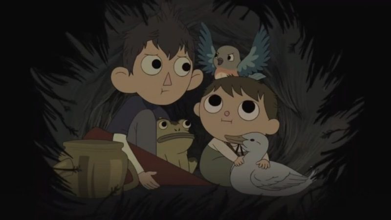 Over the Garden Wall Wirt, Gregory, Beatrice and frog