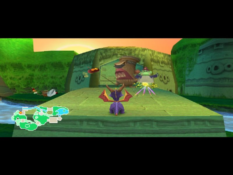 Spyro 2: Ripto's Rage (Gateway to Glimmer) gameplay Idol Springs