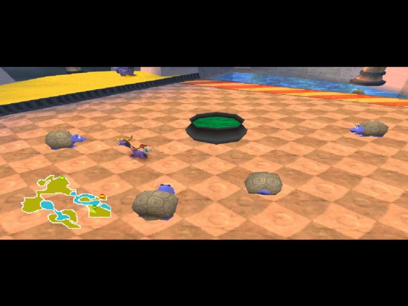 Spyro 2: Ripto's Rage (Gateway to Glimmer) gameplay Sunny Beach turtle soup minigame