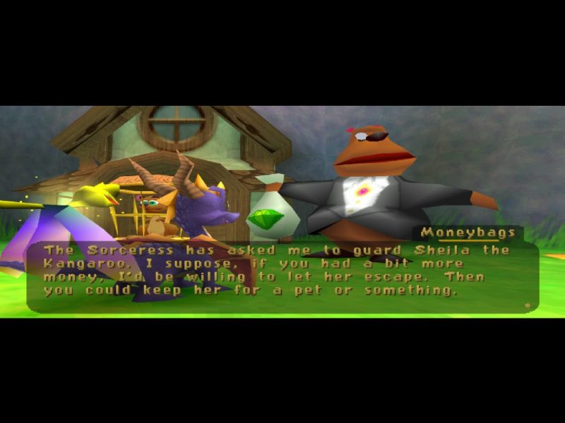 Spyro: Year of the Dragon PS1 Moneybags and Sheila the Kangaroo