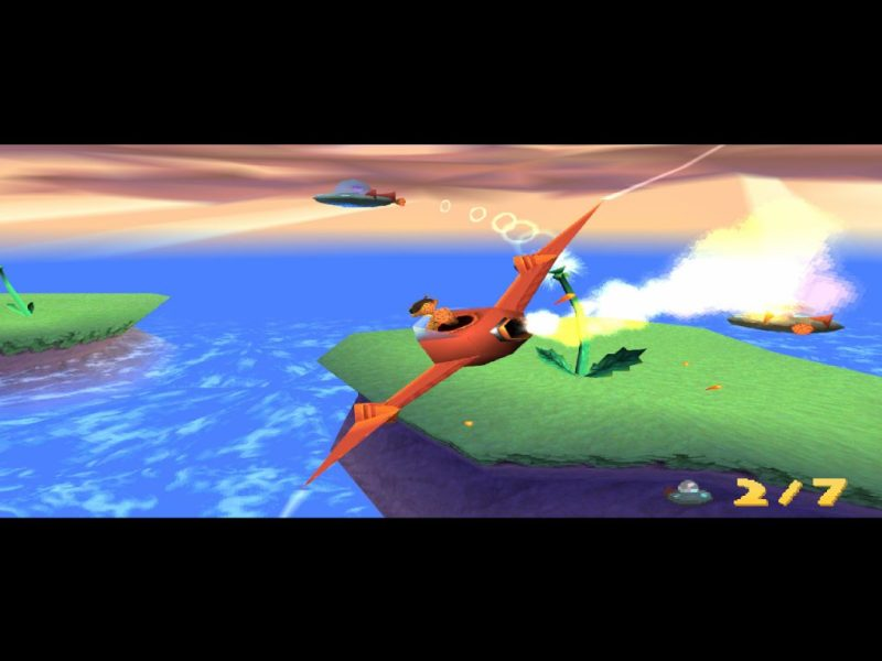 Spyro: Year of the Dragon PS1 gameplay Mushroom Speedway Hunter the Cheetah