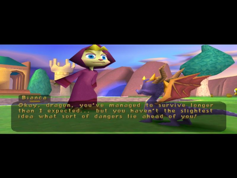Spyro: Year of the Dragon PS1 Bianca