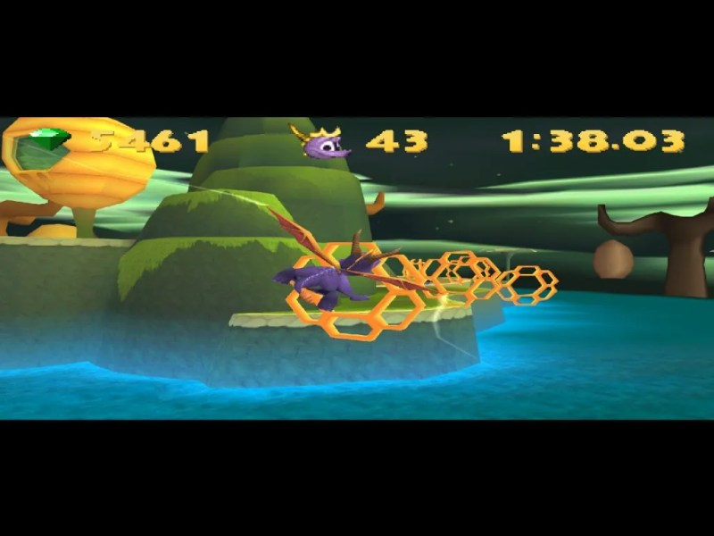 Spyro: Year of the Dragon PS1 gameplay Honey Speedway