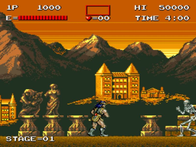 Haunted Castle (Castlevania) gameplay