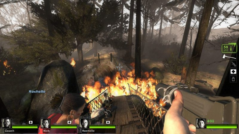 Left 4 Dead 2 gameplay Cold Stream