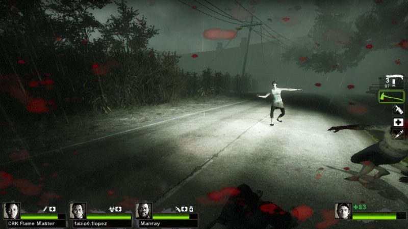 Left 4 Dead 2 gameplay Hard Rain