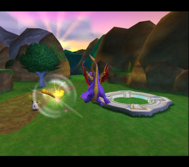Spyro: Enter the Dragonfly swim in the air glitch