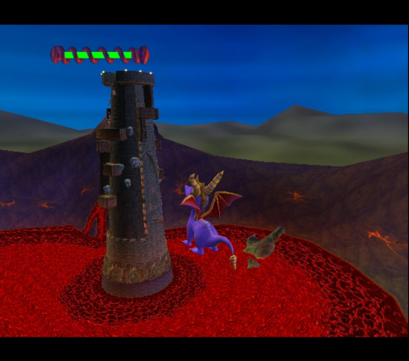 Spyro: Enter the Dragonfly gameplay Jurassic Jungle Tower of Scary and Ridiculous Heights minigame air walk glitch