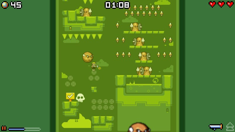 Mutant Mudds Super Challenge G-Land gameplay
