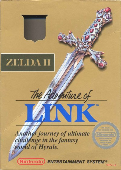 Zelda II: The Adventure of Link box cover art