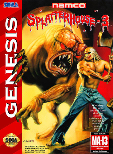 Splatterhouse 3 Sega Genesis game cover art