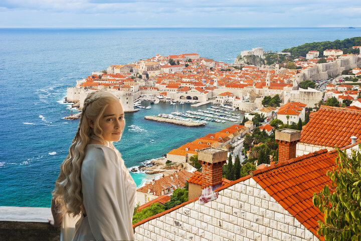 Famous Old Town Of Dubrovnik In Croatia