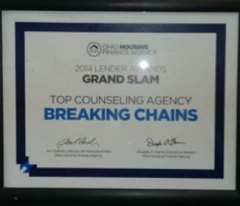 top counseling award to breaking chains inc