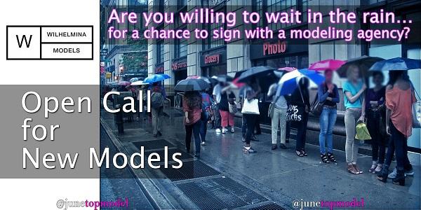 Wilhelmina modeling Open Call for new Models