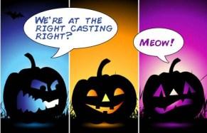 halloween pumpkins modeling joke