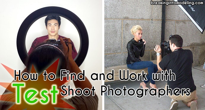 hot to find and work with test shoot photographers modeling life