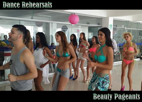 beauty pageant dance rehearsal