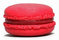 Macaron cookie red